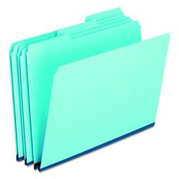 Pendaflex 9300T13 Pressboard Expanding File Folders, 1/3 Cut Top Tab, Legal, Blue (Box of 25)