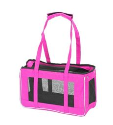 Premium Animal Heaven Easy Travel Pet Carrier Cat Puppies Dog- Pink