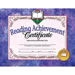 Hayes Reading Achievement Certificate, 30 Per Pack