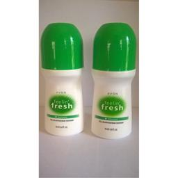 Avon Feeling Fresh Original Roll-On Antiperspirant Deodorant 2.6 Fl. oz Lot of 2