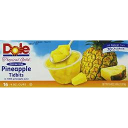 Dole Tidbits in 100 Percent Pineapple Juice, 16 Count