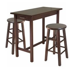 Winsome 3-Piece Breakfast Table with 2 Square Leg Stools