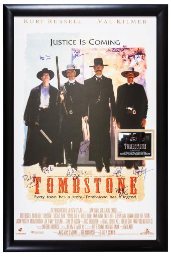 Tombstone Signed by Cast Movie Poster in Framed Case Autographed with COA OMY8EMAAIATIPYZT