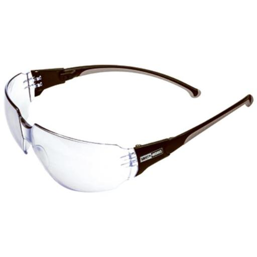 SWX00273 Temple Indoor & Outdoor Anti-Fog Safety Glasses, Gray Spinner