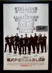 Expendables - Signed Movie Poster in Wood Frame with COA