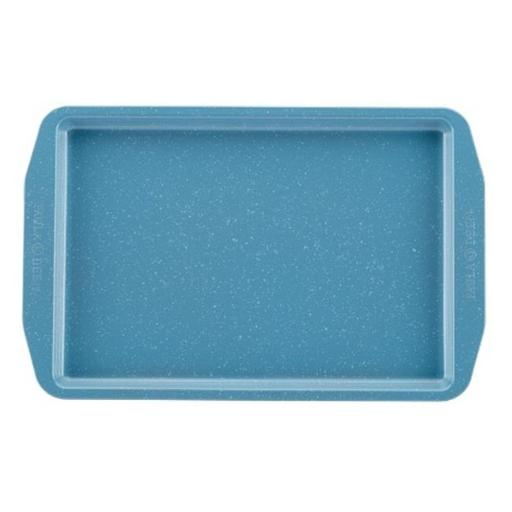 Paula Deen 46249 Speckle Nonstick Bakeware 10 x 15 in. Cookie Pan, Gulf Blue Speckle