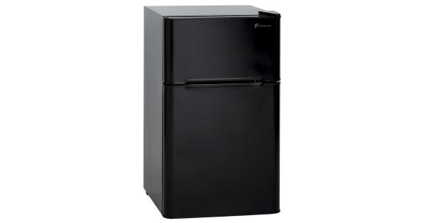 Perfect Aire 3.2 cu. ft. Black Steel Mini Refrigerator 110 watt - Case Of: 1; .Brand Name: Perfect Aire .Capacity: 3.2 cu. ft. .Color: Black .Frame Material: Steel .Product Type: Mini Refrigerator .Watts: 110 watt .UL Listed: Yes .Height: 33.5 in. .Reversible Door: Yes .Number of Doors: 2 .Width: 19 in. .Depth: 20 in.