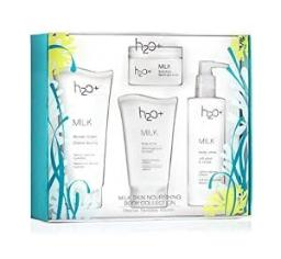 H2O+ Milk Nourishing Body Collection: Shower Cream 6 Oz, Body Scrub 4 Oz, Body Lotion 8.25 Oz and Bo