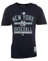 MAJESTIC Majestic A158-4507 - New York Yankees MLB Authentic Collection Short Sleeve Crewneck T-Shirt Mens Style : A158