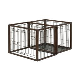Richell 94924 Brown Richell Flip To Play Pet Crate Small Brown 31.9 X 23.4 X 24.4