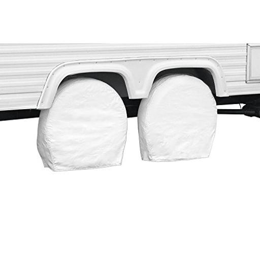 Tire Cover Single Tire Cover For 32 Inch To 34-1/2 Inch Diameter Tires Slip On Snow White Vinyl Pack Of 2