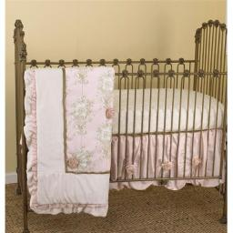 Lollipops & Roses 7 Pieces Crib Bedding Set - Pink