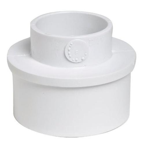 Plastic Trends P1202 PVC Adapter Bushing 3 x 1.5 in.