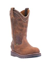 Dan Post Western Boots Mens Wellington Work Leather Brown DP69313 DP69313