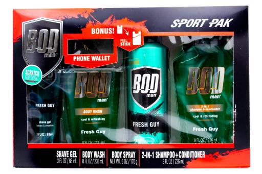 ee6f4988398e Bod Man Sport Pak; Shave Gel 3 fl oz, Body Wash 8 fl oz, Body Spray 6oz,  2-in-1 Shampoo+Conditioner