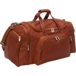 Piel Leather 7925 Sports Duffel - Saddle