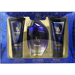 AV GLAMOUR PASSIONATE by Adrienne Vittadini EAU DE PARFUM SPRAY 3 OZ & BODY LOTION 3.4 OZ & SHOWER GEL 3.4 OZ For WOMEN