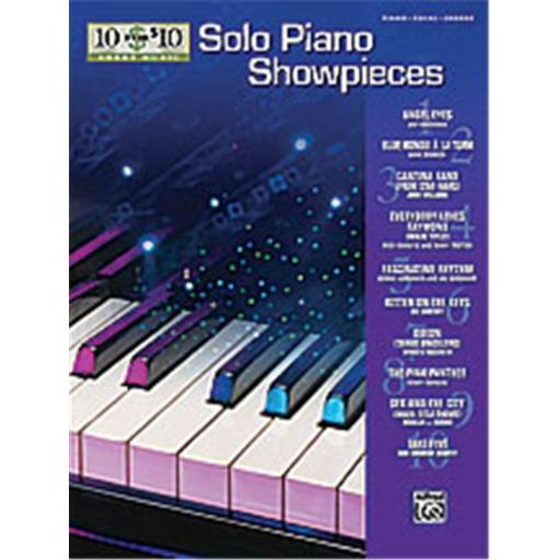 Alfred 00-31475 10 for 10 Sheet Music- Solo Piano Showpieces - Music Book