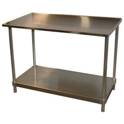 Prairie View 14gaST303472 14 Gauge Stainless Top Table, 34 to 35.5 x 30 x 72 in.