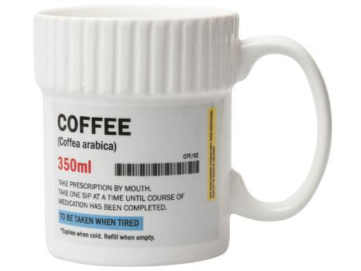 Coffee Pill Pot 11.8 oz Mug Prescription Bottle Ceramic Coffee Tea Chocolate