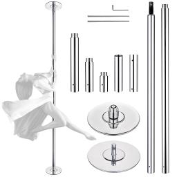 AW 10 FT 45MM Spinning Static Dancing Pole Kit for Club Party Fitness Exercise