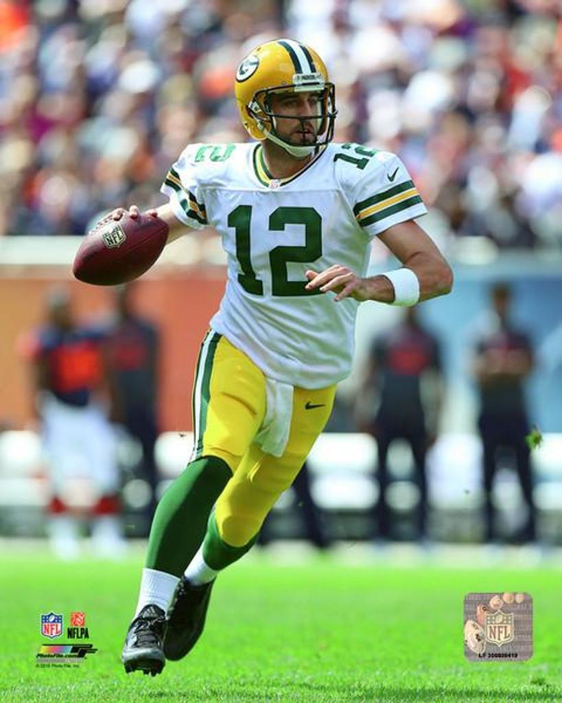 Aaron Rodgers 2015 Action Photo Print