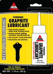 AGS Powder Graphite Lubricant 1.13 oz. 1 pk - Case Of: 1; Each Pack Qty: 1;