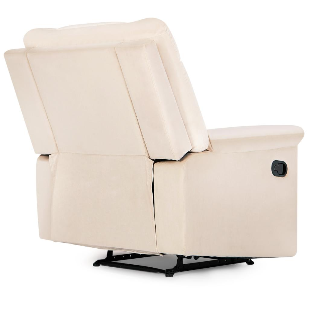Belleze belleze high back extra overstuffed contemporary full recliner microfiber lounge padded armrest backrest chair beige massgenie com