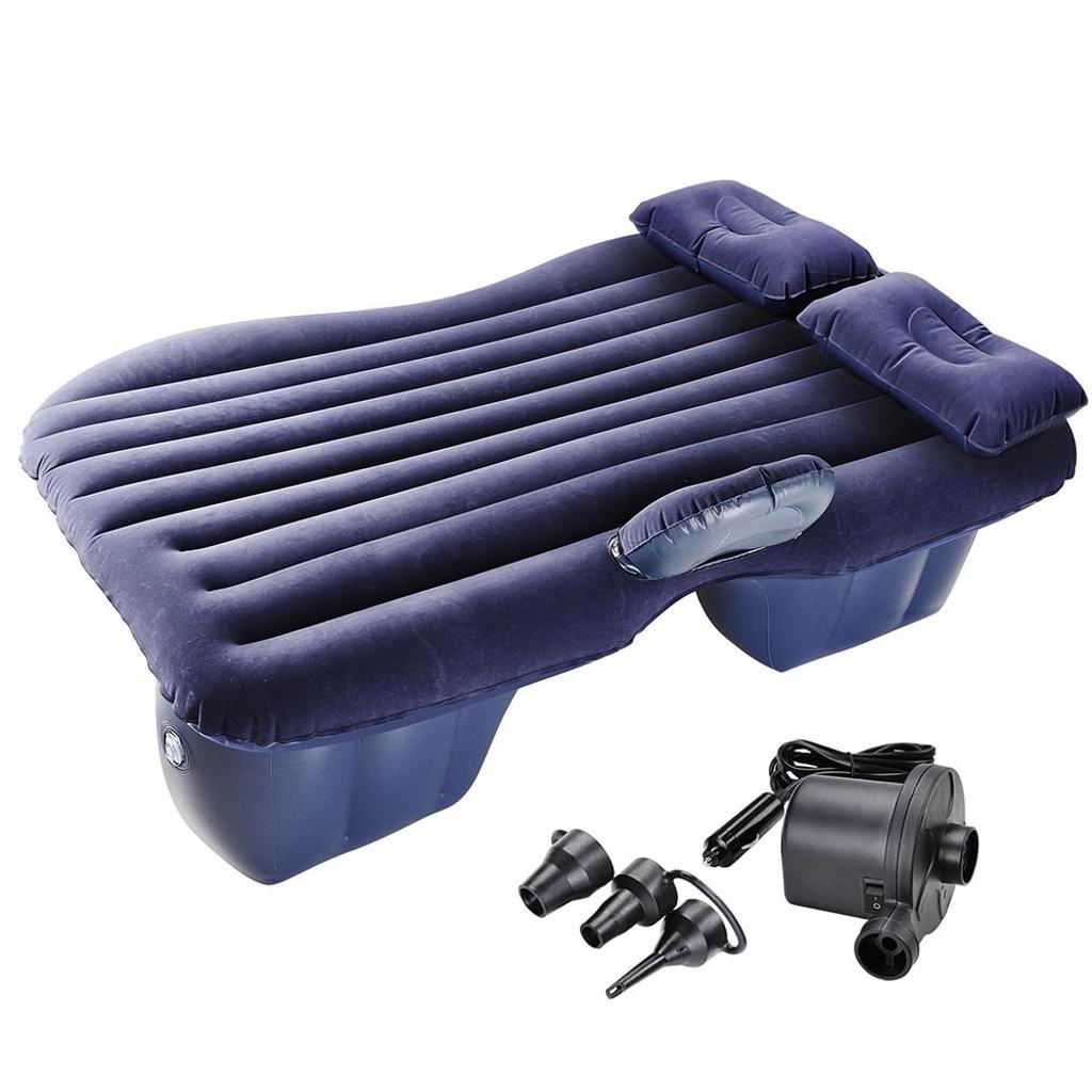 Yescom Car Air Bed Travel Camping Inflatable Mattress Backseat Cushion w/ Pillow Pump