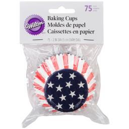 Standard Baking Cups Red, White, and Blue 75/Pkg