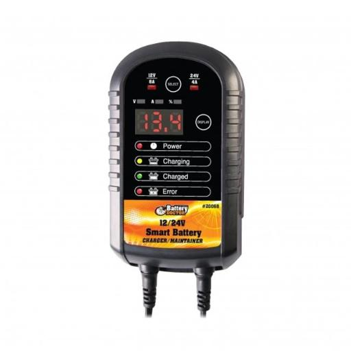 Wirthco W48-20068 12-24V 8 amp Smart Battery Charger & Maintainer