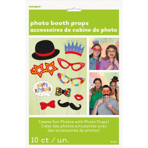 Photo Booth Props 10/Pkg-All Occasion S2OONT8TDESFAYFU