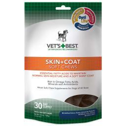 Vet'S Best 3165810500 Vet'S Best Skin And Coat Dog Soft Chews