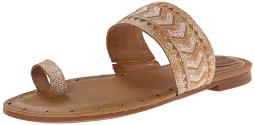 Ariat Women's Copper Creek Toe Ring Sandal, Weathered White, 9 M US