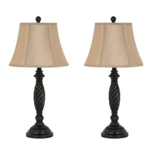 Legacy Home LTD 32-2004LT 27 in. Dark Bronze Table Lamp Set