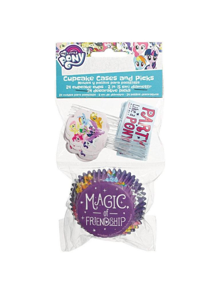 Mlp Friendship Adventures Cupcake Wrappers & Picks (48Ea)