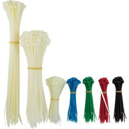 Powergear Colors, Power Gear Cable, 4, 8 11 Long, Multipurpose Zip, 1000-Pack Assorted Nylon Plastic Ties, Up To 3-Inch