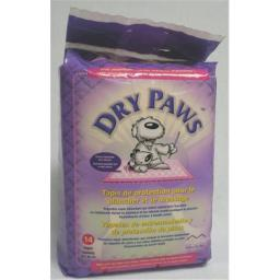 Midwest Container Beds - Dry Paws Training Pads 14 Pack-small - PPS14