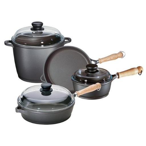 Range Kleen 674005W Tradition Cast Aluminum Non-stick Cookware Set - 5 Piece
