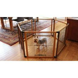 Cardinal Gates Pfpg Brown Cardinal Gates Perfect Fit Free Standing Pet Gate Brown 6 Panels 26.25 X 1 X 26