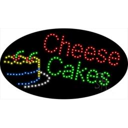 Sign Store L100-1917-outdoor Cheese Cakes Animated Outdoor LED Sign, 27 x 15 x 3.5 In.