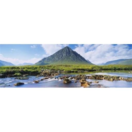 Panoramic Images PPI109235L River with a mountain in the background Buachaille Etive Mor Loch Etive Rannoch Moor Highlands Region Scotland Poster