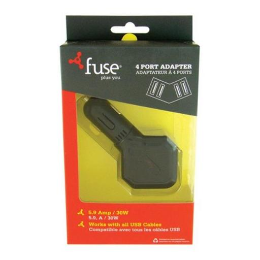 Fuse 06739 4 Port Car Cellphone Charger