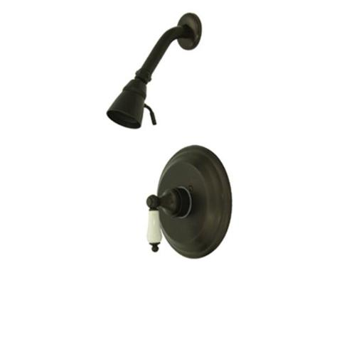 Kingston Brass Kb3635Plso Pressure Balanced Shower Faucet With Solid Brass Shower Head - Oil Rubbed Bronze Finish