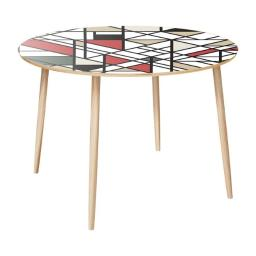 NyeKoncept 12012513 28.75 x 42 x 42 in. Natural Stella Dowel Dining Table - Organic Modernism, Natural