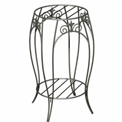 Panacea PAN89176 Panacea Double Plant Stand With Finial 20 in. Black