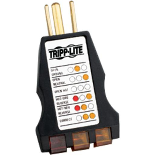 Tripp lite ct120 instant-read ac outlet circuit tester with diagnostic leds