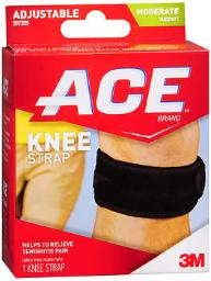 Ace Knee Strap Adjustable, Moderate Support - Each, Pack of 3