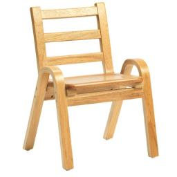 Angeles Corporation AB78C11 11 in. Naturalwood Chair
