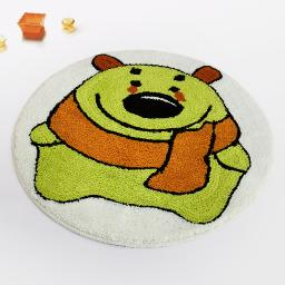 Naomi - Green Bear Kids Room Rugs (23.6 by 23.6 inches)
